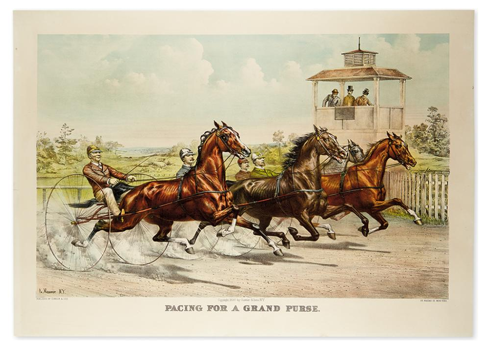 CURRIER & IVES. Trotting for a Great Stake * Pacing for a Grand Purse.
