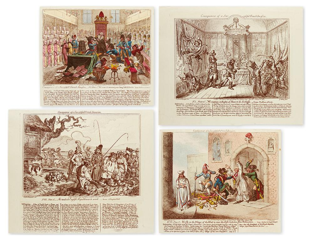 GILLRAY, JAMES. Consequences of a Successfull French Invasion.