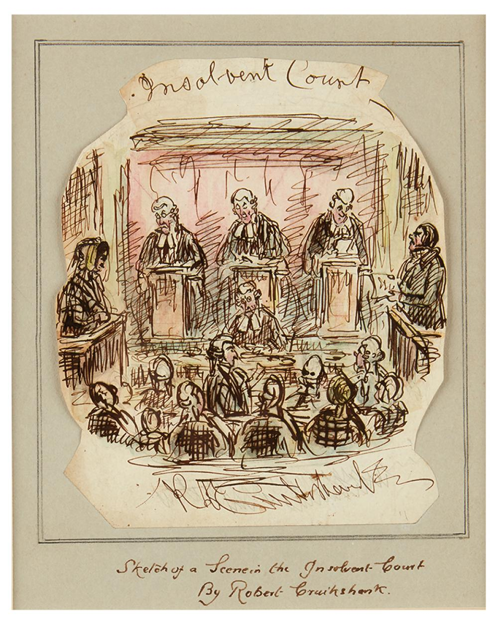 (LAW.) Cruikshank, Robert, attributed to. Insolvent Court.