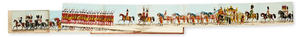 (PANORAMA - QUEEN VICTORIA.) Fores'' Correct Representation of the State Procession on the Occasion of the August Ceremony