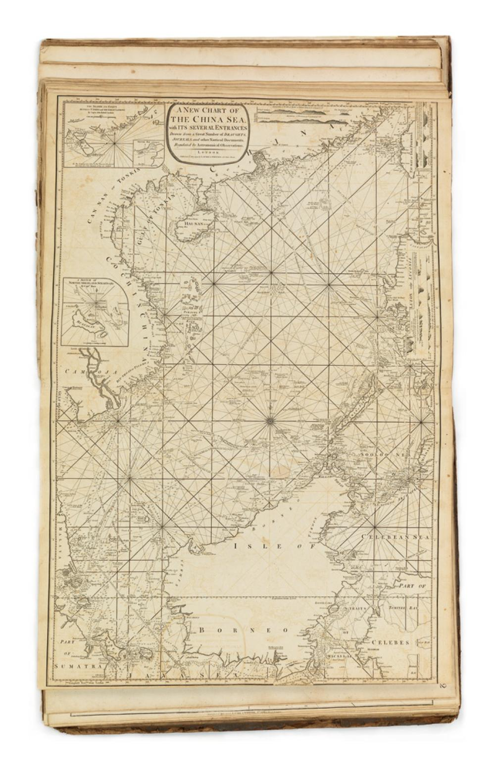 LAURIE, ROBERT AND WHITTLE, JAMES. The Complete East-India Pilot, or Oriental Navigator: Being an Extensive Collection of Charts,