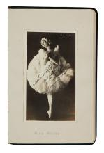 (ALBUM.) Autograph album containing 9 Photograph postcards Signed, by stars of opera and stage,