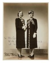 KELLER, HELEN. Photograph Signed and Inscribed,