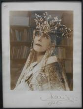 MARIE OF ROMANIA; QUEEN CONSORT TO FERDINAND I. Photograph dated and Signed,