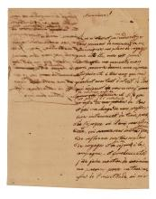 NAPOLÉON II. Autograph Manuscript, unsigned, in French, likely a practice letter written as a student's exercise,