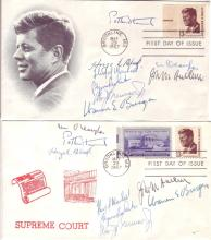 (SUPREME COURT.) Two First Day Covers, each Signed by all 8 Justices of the 1969 Burger Court.