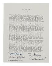 BERNSTEIN, LEONARD; AND STEPHEN SONDHEIM. Typescript Signed, by both,
