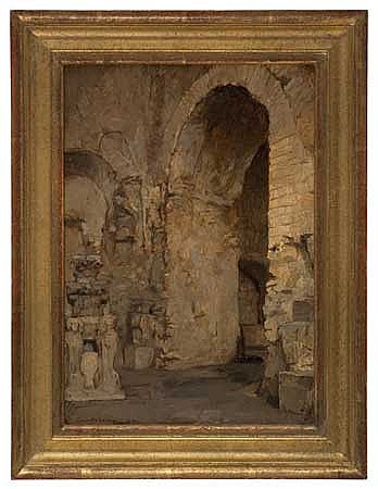 JULES-MARIE-AUGUSTE LEROUX (French, 1871-1954) Vue d'un arc romanesque.