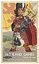 LANCE CATTERMOLE (1898-1922). HIGHLAND GAMES. Circa 1955. 39x25 inches, 101x64 cm. John Swain & Son Ltd., Lance Cattermole, Click for value