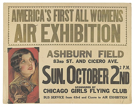 EARL CHRISTY (1882-1961). AMERICA'S FIRST ALL WOMENS AIR EXHIBITION. 1937. 11x14 inches, 28x35 cm.