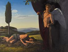 DAVID LIGARE (1945 - ) Landscape with Eros and Endymion.