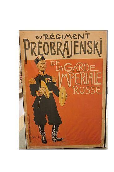 CARAN D'ACHE (EMMANUEL POIRE, 1859-1909). DU RÉGIMENT PRÉOBRAJENSKI. 46x31 inches, 118x80 cm. Charles Verneau, Paris.