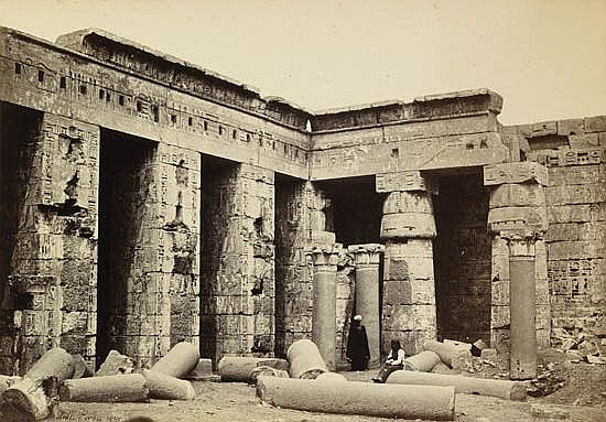 FRITH, FRANCIS (1822-1898) Group of 15 photographs of Egypt, including landscapes and ruins, many with human figures.