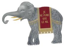 (CAPPIELLO, LEONETTO; after / EPHEMERA.) Paper elephant in-store display for Le Nil.