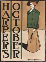 EDWARD PENFIELD (1866-1925). HARPER'S OCTOBER. 1897. 19x14 inches, 49x36 cm.