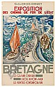POSTER: HERMINE DAVID (1886-1970). BRETAGNE., Hermine David, Click for value