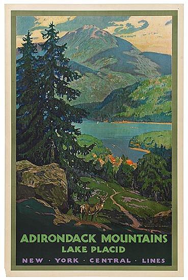 POSTER: WALTER L. GREENE (1870-1956). ADIROND