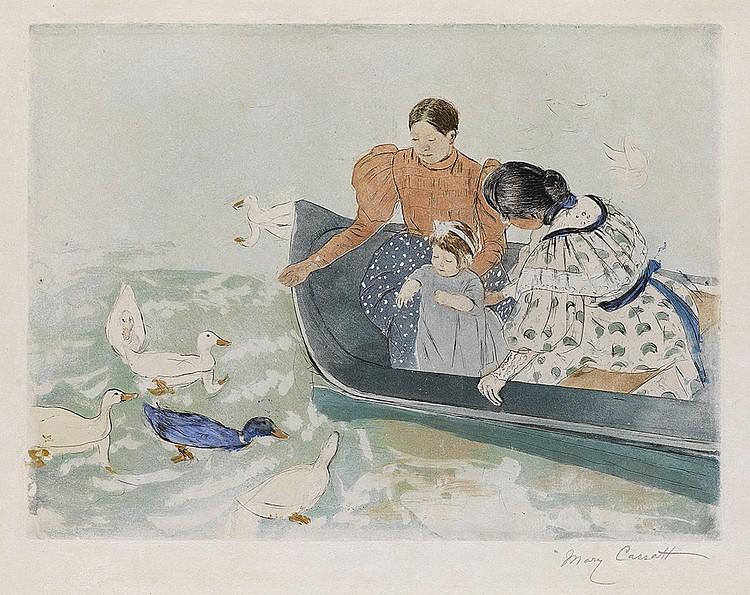 MARY CASSATT Feeding the Ducks.