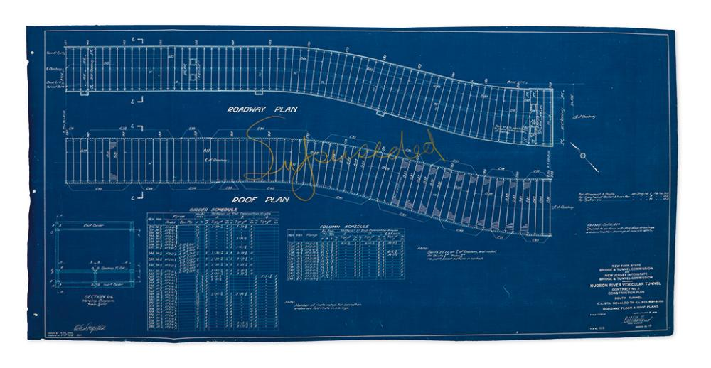 New york city group of blueprints from the construction o group of blueprints from the construction of the holland tunnel malvernweather Gallery
