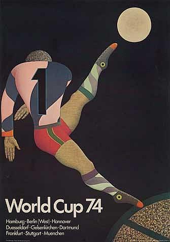 POSTER: FRITZ GENKINGER (1934-?). WORLD CUP.