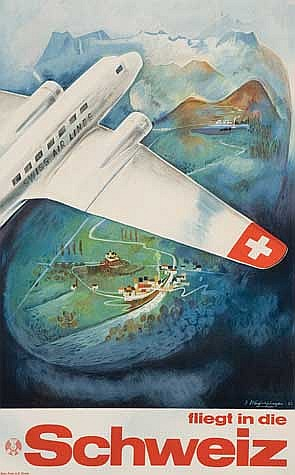 POSTER: EUGEN HAFELFINGER (1898-1981). FLIEGT