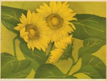 LUIGI RIST Sunflowers.