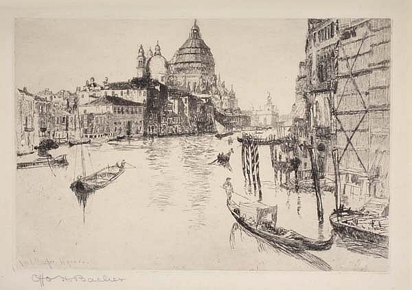 OTTO HENRY BACHER Grand Canal, Venice.