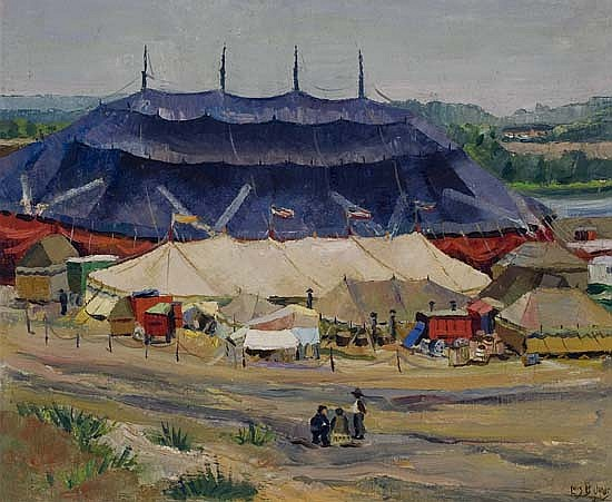 LÃ?IS M. JONES (1905 - 1988) Circus Tents.
