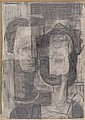 ROBERT BLACKBURN (1920 - 2003) Untitled (Cubist Couple)., Robert Blackburn, Click for value
