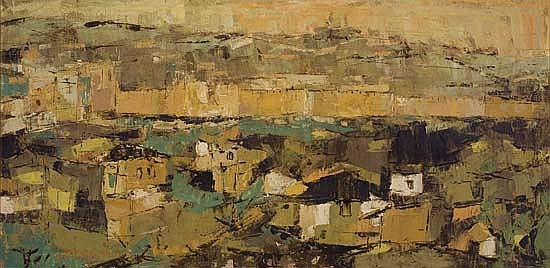 ALVIN CARL HOLLINGSWORTH (1928 - 2000) View of Jerusalem.