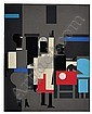 ROMARE BEARDEN (1911 - 1988) Untitled (Four Figures)., Romare Howard Bearden, Click for value