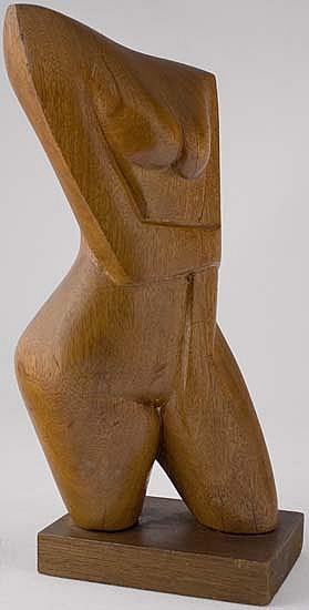ELIZABETH CATLETT (1915 -  ) Nude Torso.