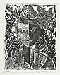 MARGARET BURROUGHS (1917 - ) Two linoleum cuts., Margaret T G Burroughs, Click for value