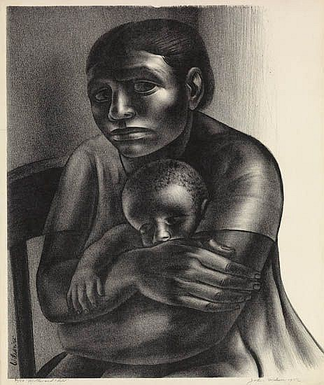 JOHN WILSON (1922 -   ) Mother and Child.