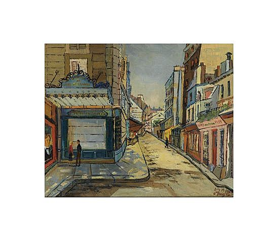 LOÏS MAILOU JONES (1905 - 1998) Rue Geoffroy St. Hillaire, Paris.