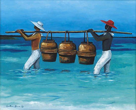 JONATHAN GREEN (1955 -   ) Three Vessels.