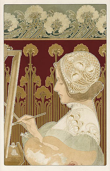 HENRI PRIVAT-LIVEMONT Two color lithographs.