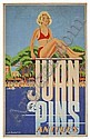POSTER - ALEXIS KOW JUAN LES PINS / ANTIBES. 39x24 inches. Havas., Alexis Kow, Click for value