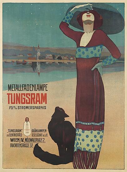 GÉZA FARAGÓ (1877-1928). TUNGSRAM. 1913. 40x36 inches, 103x93cm.