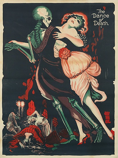 ATTRIBUTED TO JOSEF FENNEKER (1895-1956). THE DANCE OF DEATH. 1919. 54x41 inches, 138x104 cm.
