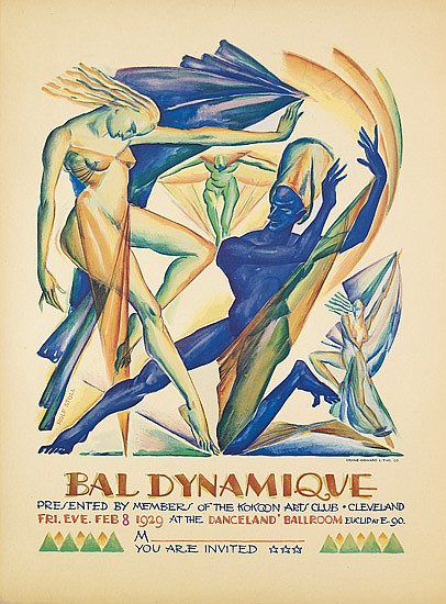 ROLF STOLL (1892-1978). BAL DYNAMIQUE. 1929. 21x16 inches, 55x40 cm. Crane-Howard Litho. Co.