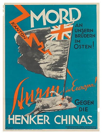 JOHN HEARTFIELD (1891-1968). MORD AN UNSERN BRÜDERN IM OSTEN! 1927. 25x19 inches, 64x49 cm. Peuvag, Berlin.