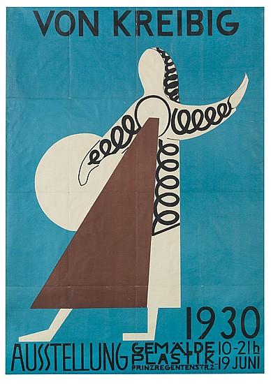 ATTRIBUTED TO ERWIN VON KREIBIG (1904-1961). VON KREIBIG. 1930. 46x32 inches, 118x82 cm. Kunst Im Druck, Munich.