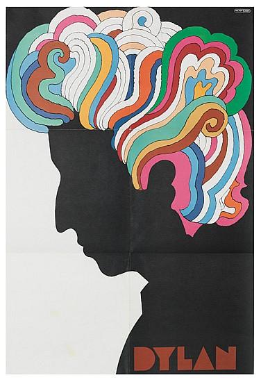 MILTON GLASER (1929 -  ). BOB DYLAN. 1966. 33x22 inches, 84x56 cm.