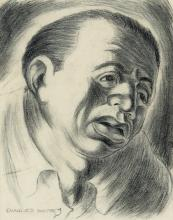 CHARLES WHITE (1918 - 1979) Diego Rivera (Portrait of a Man).