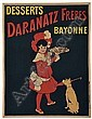 MARCELLIN AUZOLLE DESSERTS DARANATZ FRERES. 50x38 inches. P. Vercasson & Cie., Paris., Marcellin Auzolle, Click for value