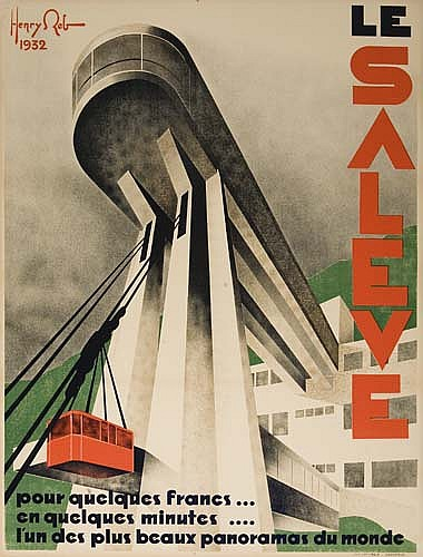 HENRY REB LE SALEVE. 1932. 46x62 inches. Generale, Grenoble.