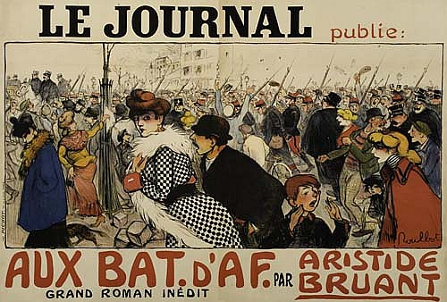 Poster: FRANCISQUE POULBOT (1879-1946) LE JOURNAL / AUX BAT.