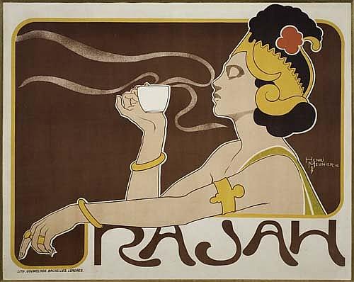 Poster: HENRI MEUNIER (1879-1922) RAJAH. 1897. 23x29 inches.