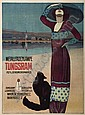 Poster: GÉZA FARAGÓ (1877-1928) TUNGSRAM. 1913. 40x36 inches., Géza (1877) Faragó, Click for value